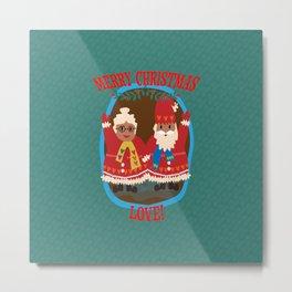 Merry Christmas LOVE! Metal Print