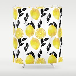 lemon tree Shower Curtain