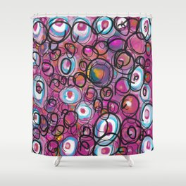 Pink Hooligan Shower Curtain