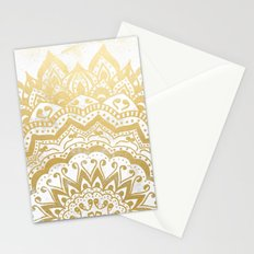 GOLD ORION JEWEL MANDALA Stationery Cards