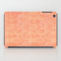 chevron iPad Cases featuring Stockinette Orange by Elisa Sandoval