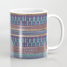 Gold Teal and Purple Arrows Tribal Aztec Pattern Coffee Mug