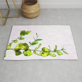 Minimal Home Plant Leaves - For plant lovers. Rug