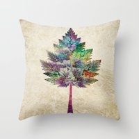 cassia beck Throw Pillows featuring Like a Tree 2. version by Klara Acel