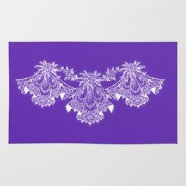 Vintage Lace Hankies Purple Rug
