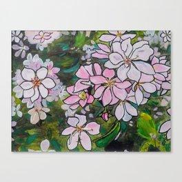 Blushing Blossoms Canvas Print