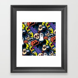 Spooky Pattern Framed Art Print