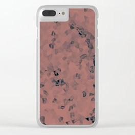 Stone coral - light Clear iPhone Case