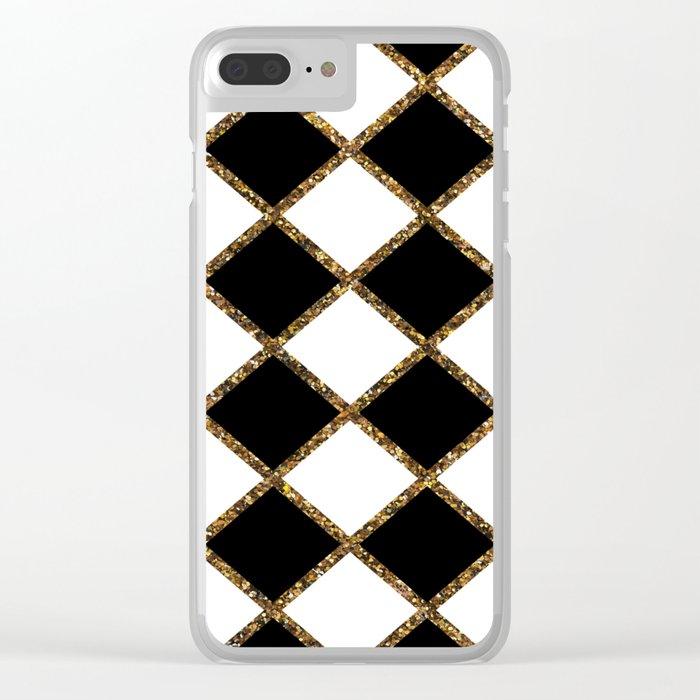 Geometric ornament gold seamless pattern Clear iPhone Case