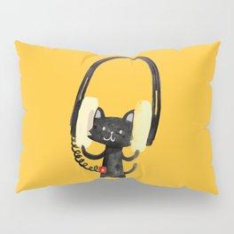 I Love Huge Headphone Pillow Sham