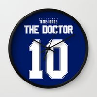 david tennant Wall Clocks featuring Team Tennant by trekvix