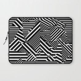 Dazzle Camo #01 - Black & White Laptop Sleeve