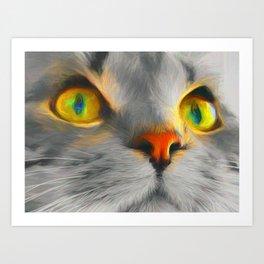 Big gray cat Art Print