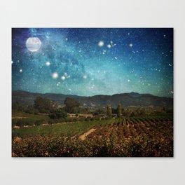 Starlit Vineyard II Canvas Print