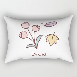 Cute Dungeons and Dragons Druid class Rectangular Pillow