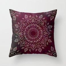 Wine Mandala Throw Pillow