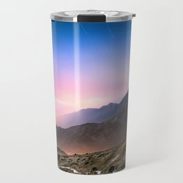Fantasy mountainscape at night with starry sky in Hong Kong Travel Mug