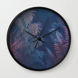 Abstract Fern Wall Clock