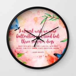 Three summer days Wall Clock