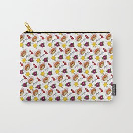 Hammy Pattern in White Carry-All Pouch