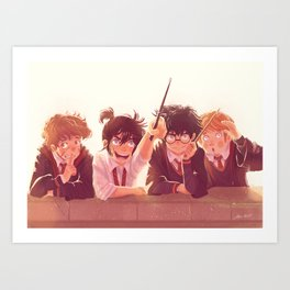 Moony, Wormtail, Padfoot and Prongs Art Print