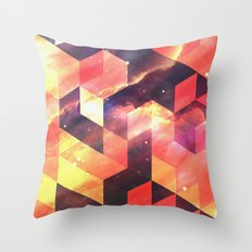 Geometric Fire Throw Pillow