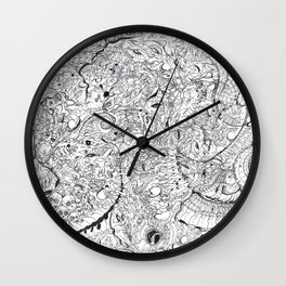 ' Eyeballs, Vertebrae, Teeth & Tentacles Oh My! By: Matthew Crispell Wall Clock