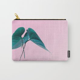 Pink Plant Carry-All Pouch