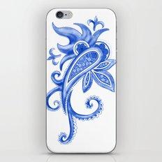 Paisley: Blue China Combo iPhone & iPod Skin