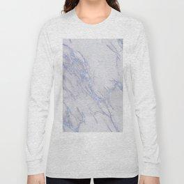Marble Love Sapphire Metallic Long Sleeve T-shirt