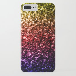Beautiful rainbow yellow red purple sparkles iPhone Case
