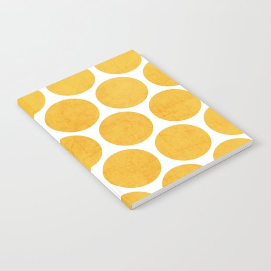 yellow polka dots Notebook