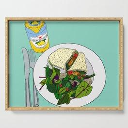 Healthy Falafel Wrap Lunch Serving Tray