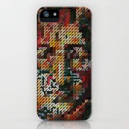 Hedgehog geometric pattern portrait of JohnLennon iPhone Case