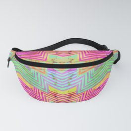 Zig Zag Pattern Playtime | Watercolor Art Print | Hot Pink Fanny Pack