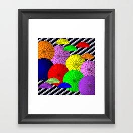do you like umbrellas? Framed Art Print