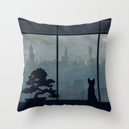 Watching The Storm Throw Pillow