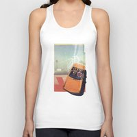 car Tank Tops featuring Getaway Car | Collage by Julien Ulvoas