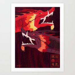 Original Bending Masters Series: Ran and Shaw Art Print