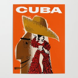 Vintage Travel Ad Cuba Poster