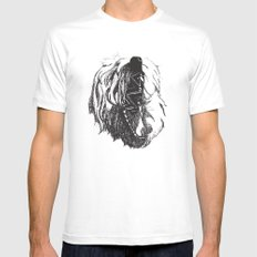 Yawning George White SMALL Mens Fitted Tee