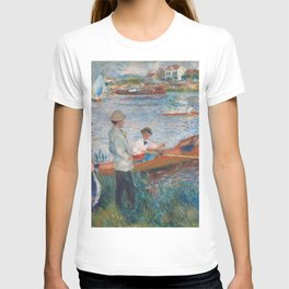 Oarsmen at Chatou Painting by Auguste Renoir T-shirt