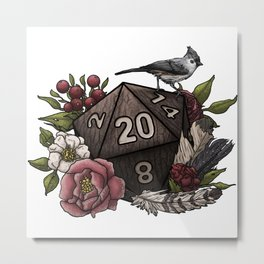 Druid Class D20 - Tabletop Gaming Dice Metal Print