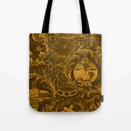 Bronze IOOF Woven Symbolism Tapestry Tote Bag