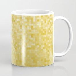 Pixels Gradient Pattern in Yellow Coffee Mug