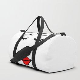 Style Girl - Face - Doodle Art Duffle Bag