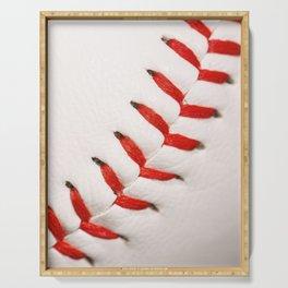 Baseball Macro Photo Serving Tray