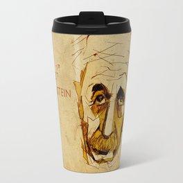 Albert Einstein Portrait Travel Mug