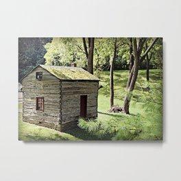 Rustic Log Cabin Metal Print
