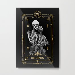 The Lovers VI Tarot Card Metal Print